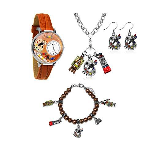 気まぐれな腕時計 かわいい プレゼント クリスマス ユニセックス 【送料無料】Whimsical Gifts Profession Jewelry Sets (Artist, Silver)気まぐれな腕時計 かわいい プレゼント クリスマス ユニセックス