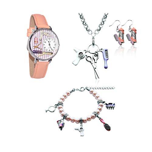 気まぐれな腕時計 かわいい プレゼント クリスマス ユニセックス 【送料無料】Whimsical Gifts Profession Jewelry Sets (Beautician, Silver)気まぐれな腕時計 かわいい プレゼント クリスマス ユニセックス