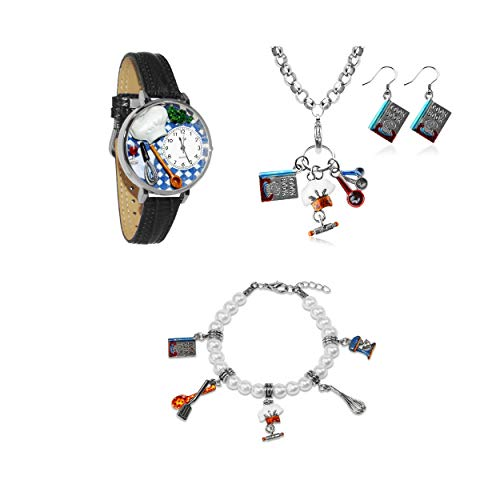 気まぐれな腕時計 かわいい プレゼント クリスマス ユニセックス 【送料無料】Whimsical Gifts Profession Jewelry Sets (Chef, Silver)気まぐれな腕時計 かわいい プレゼント クリスマス ユニセックス