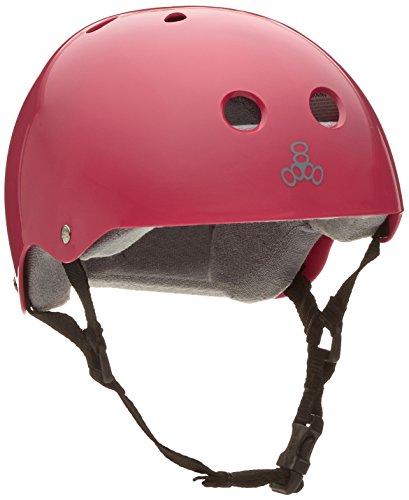 ヘルメット スケボー スケートボード 海外モデル 直輸入 1286 Triple Eight Helmet with Sweatsaver Liner, Pink Glossy, Smallヘルメット スケボー スケートボード 海外モデル 直輸入 1286