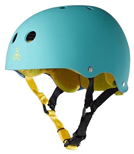 ヘルメット スケボー スケートボード 海外モデル 直輸入 1316 Triple Eight Sweatsaver Liner Skateboarding Helmet, Baja Teal Rubber, Smallヘルメット スケボー スケートボード 海外モデル 直輸入 1316