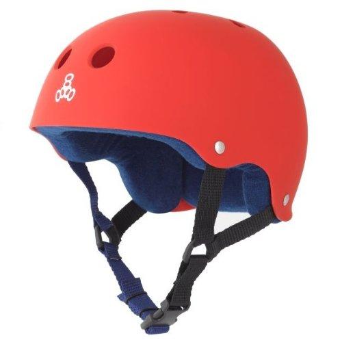 ヘルメット スケボー スケートボード 海外モデル 直輸入 1322 Triple 8 Sweatsaver Liner Skateboarding Helmet, Red Rubber, Mヘルメット スケボー スケートボード 海外モデル 直輸入 1322