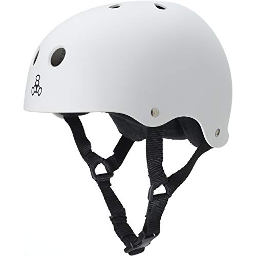 ヘルメット スケボー スケートボード 海外モデル 直輸入 1213 Triple 8 Sweatsaver Liner Skateboarding Helmet, White Rubber, Lヘルメット スケボー スケートボード 海外モデル 直輸入 1213