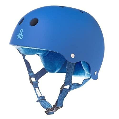 ヘルメット スケボー スケートボード 海外モデル 直輸入 1248 Triple 8 Sweatsaver Liner Skateboarding Helmet, Royal Blue Rubber, XLヘルメット スケボー スケートボード 海外モデル 直輸入 1248