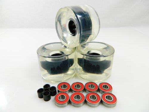 ベアリング スケボー スケートボード 海外モデル 直輸入 60mm Skateboard Wheels + ABEC 7 Bearings Spacers (Gel Clear)ベアリング スケボー スケートボード 海外モデル 直輸入