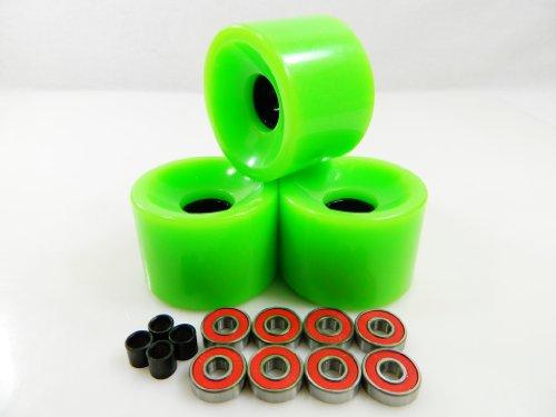 ベアリング スケボー スケートボード 海外モデル 直輸入 60mm Skateboard Wheels + ABEC 7 Bearings Spacers (Green)ベアリング スケボー スケートボード 海外モデル 直輸入
