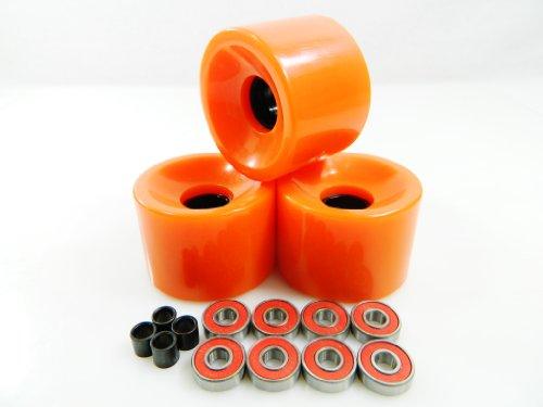 ベアリング スケボー スケートボード 海外モデル 直輸入 60mm Skateboard Wheels + ABEC 7 Bearings Spacers (Orange)ベアリング スケボー スケートボード 海外モデル 直輸入