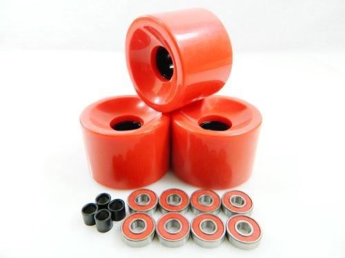 ベアリング スケボー スケートボード 海外モデル 直輸入 60mm Skateboard Wheels + ABEC 7 Bearings Spacers (Red)ベアリング スケボー スケートボード 海外モデル 直輸入