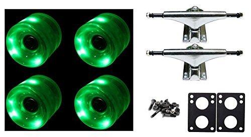 ベアリング スケボー スケートボード 海外モデル 直輸入 DECK LED Longboard 65mm Wheels with Trucks and Abec 9 Bearings Complete Package Night Lights for Cruiser Skateboard (Green)ベアリング スケボー スケートボード 海外モデル 直輸入 DECK