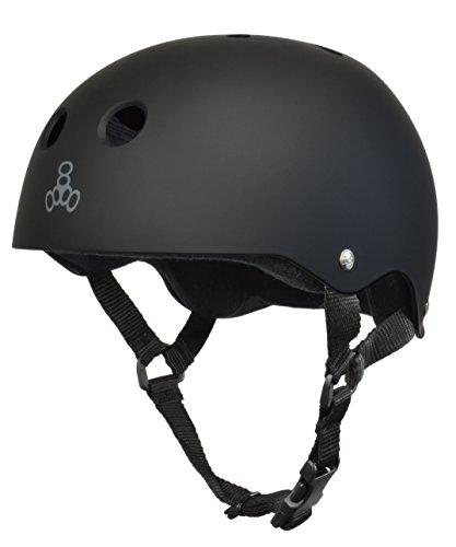 ヘルメット スケボー スケートボード 海外モデル 直輸入 1351 Triple Eight Sweatsaver Liner Skateboarding Helmet, All Black Rubber, Smallヘルメット スケボー スケートボード 海外モデル 直輸入 1351