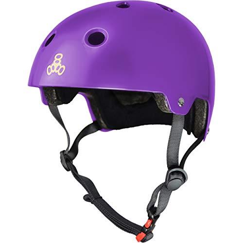 ヘルメット スケボー スケートボード 海外モデル 直輸入 3006 Triple Eight Dual Certified Multi-Sport Helmet, Purple Gloss, X-Small / Smallヘルメット スケボー スケートボード 海外モデル 直輸入 3006