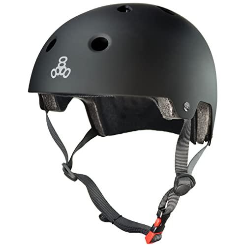 ヘルメット スケボー スケートボード 海外モデル 直輸入 3037 Triple Eight 3037 Dual Certified Helmet, Small/Medium, All Black Rubberヘルメット スケボー スケートボード 海外モデル 直輸入 3037