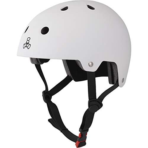 ヘルメット スケボー スケートボード 海外モデル 直輸入 3017 Triple Eight Dual Certified Multi-Sport Helmet, White Matte, Small / Mediumヘルメット スケボー スケートボード 海外モデル 直輸入 3017