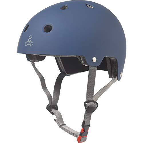 ヘルメット スケボー スケートボード 海外モデル 直輸入 3023 Triple Eight Dual Certified Bike and Skateboard Helmet, Blue Matte, Large / X-Largeヘルメット スケボー スケートボード 海外モデル 直輸入 3023