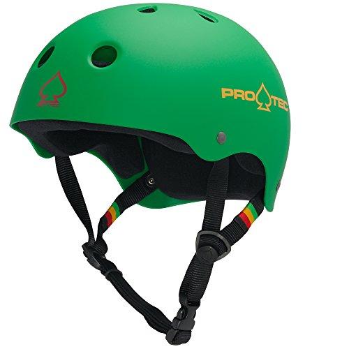 ヘルメット スケボー スケートボード 海外モデル 直輸入 120213103 Pro-Tec Classic Skate, Matte Rasta Green, Sヘルメット スケボー スケートボード 海外モデル 直輸入 120213103