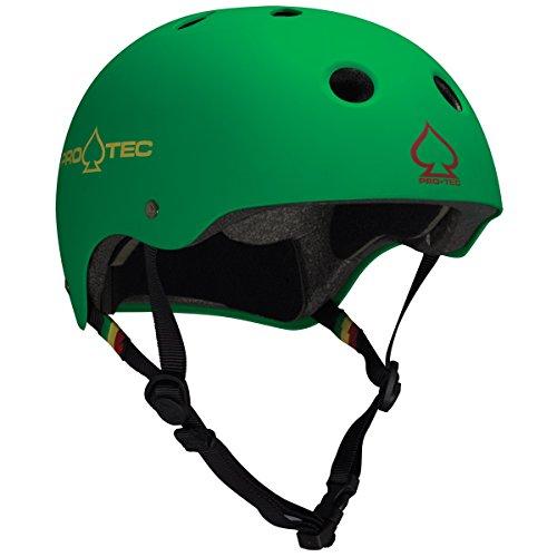 ヘルメット スケボー スケートボード 海外モデル 直輸入 120213105 Pro-Tec Classic Skate, Matte Rasta Green, Lヘルメット スケボー スケートボード 海外モデル 直輸入 120213105