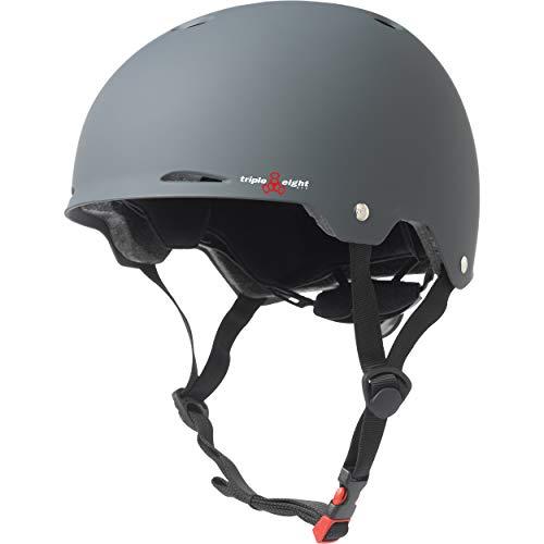 ヘルメット スケボー スケートボード 海外モデル 直輸入 3308 Triple Eight Gotham Rubber Helmet, Gun, Large/X-Largeヘルメット スケボー スケートボード 海外モデル 直輸入 3308
