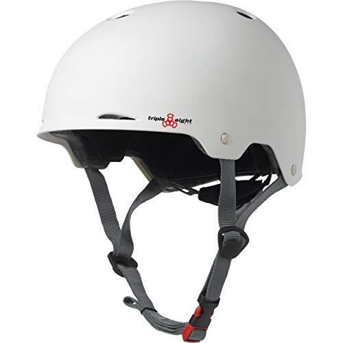 ヘルメット スケボー スケートボード 海外モデル 直輸入 3323 Triple Eight Gotham Matte Helmet, White, Large/X-Largeヘルメット スケボー スケートボード 海外モデル 直輸入 3323