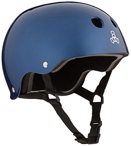 ヘルメット スケボー スケートボード 海外モデル 直輸入 1027 Triple 8 Standard Liner Skateboarding Helmet, Blue Metallic, Sヘルメット スケボー スケートボード 海外モデル 直輸入 1027