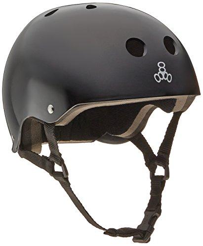ヘルメット スケボー スケートボード 海外モデル 直輸入 1002 【送料無料】Triple 8 Standard Liner Skateboarding Helmet, Medium, Black Glossyヘルメット スケボー スケートボード 海外モデル 直輸入 1002