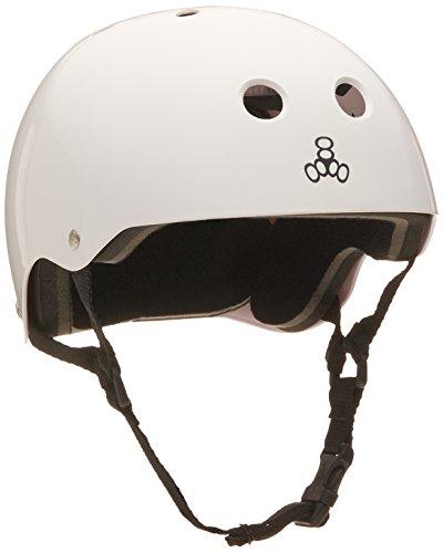 ヘルメット スケボー スケートボード 海外モデル 直輸入 1006 Triple 8 Standard Liner Skateboarding Helmet, White Gloss, Mヘルメット スケボー スケートボード 海外モデル 直輸入 1006