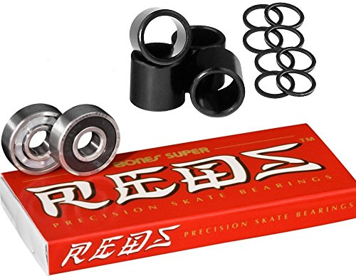 ベアリング スケボー スケートボード 海外モデル 直輸入 Bones Super Reds (w/ Spacers & Washers)ベアリング スケボー スケートボード 海外モデル 直輸入