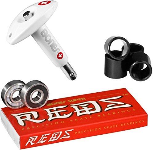 ベアリング スケボー スケートボード 海外モデル 直輸入 DECK Bones Super Reds Bearings, 8 Pack set With Puller Tool & FREE Bones Spacersベアリング スケボー スケートボード 海外モデル 直輸入 DECK