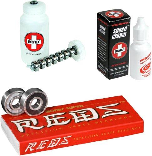 ベアリング スケボー スケートボード 海外モデル 直輸入 DECK Bones Super Reds Bearings 8 Pack set - Speed Cream & Cleaning Unit Comboベアリング スケボー スケートボード 海外モデル 直輸入 DECK