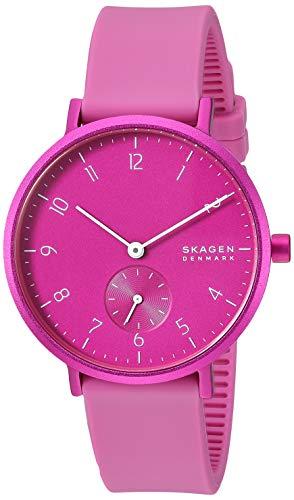 スカーゲン 腕時計 メンズ 【送料無料】Skagen Women's Aaren Quartz Silicone Watch, Color: Pink, 16 (Model: SKW2803)スカーゲン 腕時計 メンズ