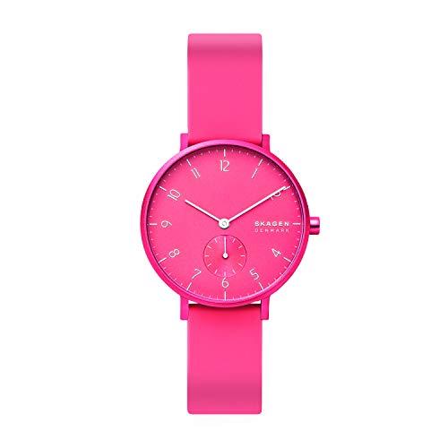 スカーゲン 腕時計 メンズ 【送料無料】Skagen Women's Aaren Quartz Silicone Watch, Color: Pink, 16 (Model: SKW2822)スカーゲン 腕時計 メンズ