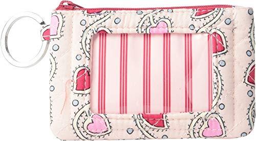 ヴェラブラッドリー 母の日特集 パスケース IDケース 定期入れ 【送料無料】Vera Bradley Women's Iconic Zip ID Case Stitched Heart Vines One Sizeヴェラブラッドリー 母の日特集 パスケース IDケース 定期入れ