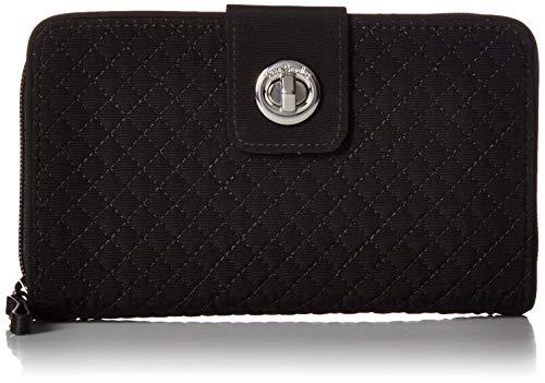 ヴェラブラッドリー ベラブラッドリー アメリカ 日本未発売 財布 【送料無料】Vera Bradley Women's Microfiber RFID Turnlock Wallet, Classic Black, One Sizeヴェラブラッドリー ベラブラッドリー アメリカ 日本未発売 財布