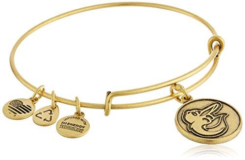 アレックスアンドアニ アメリカ アクセサリー ブランド かわいい Alex and Ani Baltimore Orioles Cap Logo Expandable Rafaelian Gold Bangle Braceletアレックスアンドアニ アメリカ アクセサリー ブランド かわいい