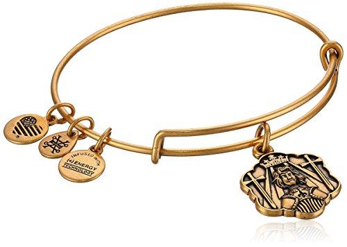 アレックスアンドアニ アメリカ アクセサリー ブランド かわいい Alex and Ani Joan of Arc Bangle Bracelet, Rafealian Gold, Expandableアレックスアンドアニ アメリカ アクセサリー ブランド かわいい