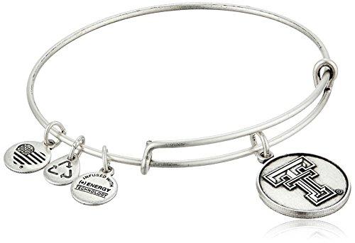 アレックスアンドアニ アメリカ アクセサリー ブランド かわいい 【送料無料】Alex and Ani Texas Tech University Logo Expandable Rafaelian Silver Bangle Braceletアレックスアンドアニ アメリカ アクセサリー ブランド かわいい