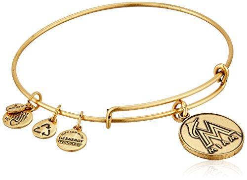アレックスアンドアニ アメリカ アクセサリー ブランド かわいい 【送料無料】Alex and Ani Miami Marlins Cap Logo Expandable Rafaelian Gold Bangle Braceletアレックスアンドアニ アメリカ アクセサリー ブランド かわいい