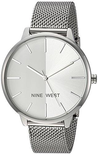 ナインウェスト 腕時計 レディース 【送料無料】Nine West Women's NW/1981SVSB Silver-Tone Mesh Bracelet Watchナインウェスト 腕時計 レディース