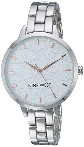 ナインウェスト 腕時計 レディース 【送料無料】Nine West Women's NW/2227SVRT Silver-Tone Bracelet Watchナインウェスト 腕時計 レディース