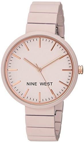ナインウェスト 腕時計 レディース 【送料無料】Nine West Women's NW/2012LPRG Matte Pastel Pink Rubberized Bracelet Watchナインウェスト 腕時計 レディース