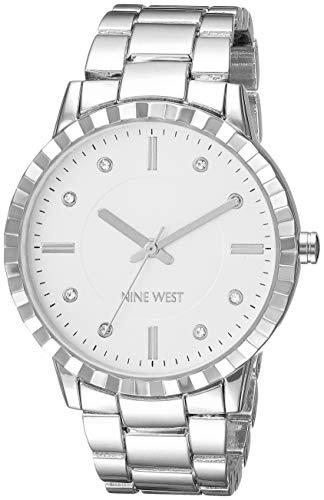 ナインウェスト 腕時計 レディース 【送料無料】Nine West Women's NW/2283SVSV Crystal Accented Silver-Tone Bracelet Watchナインウェスト 腕時計 レディース