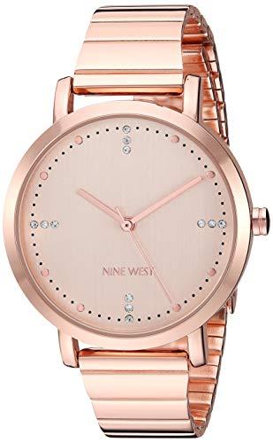 ナインウェスト 腕時計 レディース 【送料無料】Nine West Women's NW/2278RGRG Crystal Accented Rose Gold-Tone Bracelet Watchナインウェスト 腕時計 レディース