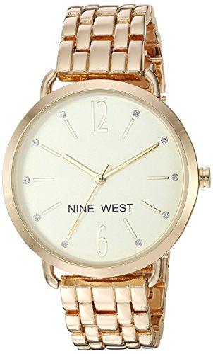 ナインウェスト 腕時計 レディース 【送料無料】Nine West Women's Quartz Stainless Steel and Alloy Dress Watch, Color:Gold-Tonedナインウェスト 腕時計 レディース