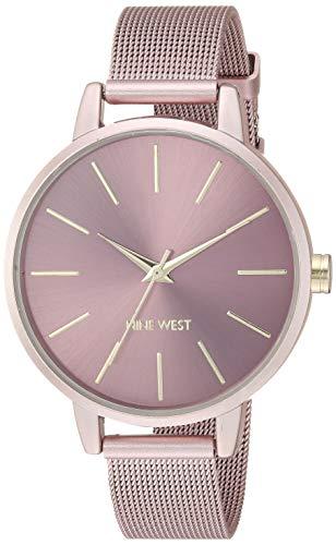 ナインウェスト 腕時計 レディース 【送料無料】Nine West Women's NW/2280PKPK Pink Mesh Bracelet Watchナインウェスト 腕時計 レディース