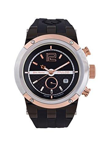 マルコ 腕時計 メンズ 【送料無料】Mulco Unisex Bluemarine Glass Chronograph Swiss Multifunctional Movement Watch (Black/Brown)マルコ 腕時計 メンズ