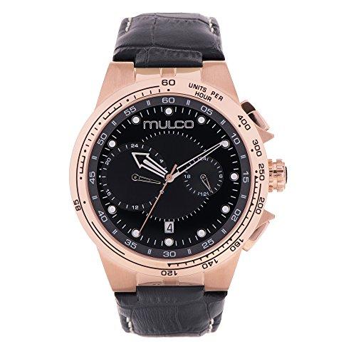マルコ 腕時計 メンズ 【送料無料】Mulco Lyon Men's Watch- Black Leather Band- Stainless Steel- Water Resistant- MW3-16106-223マルコ 腕時計 メンズ