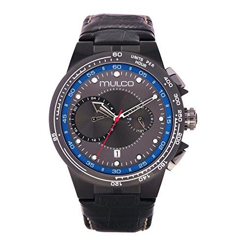 マルコ 腕時計 メンズ 【送料無料】Mulco Lyon Men's Watch- Black Leather Band- Stainless Steel- Water Resistant- MW3-16106-224マルコ 腕時計 メンズ