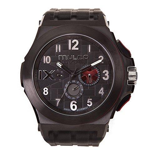 マルコ 腕時計 メンズ 【送料無料】Mulco Men's MW5-4379-026 Blacksteel Silicone Strap Watchマルコ 腕時計 メンズ