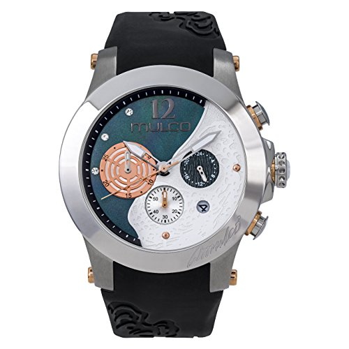 マルコ 腕時計 レディース 【送料無料】Mulco Wind Rock Quartz Multifuncion Movement Women's Watch | Mother of Pearl Sundial with Rose Gold and Swarovski Accents | Silicone Band | Water Resistant Stainless Steel Watch (Blaマルコ 腕時計 レディース