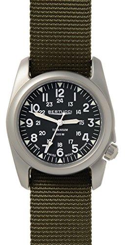 ベルトゥッチ 逆輸入 海外モデル 海外限定 アメリカ直輸入 【送料無料】BERTUCCI A-2T Vintage Watch Balck/Ti-Def Olive Band 12075ベルトゥッチ 逆輸入 海外モデル 海外限定 アメリカ直輸入