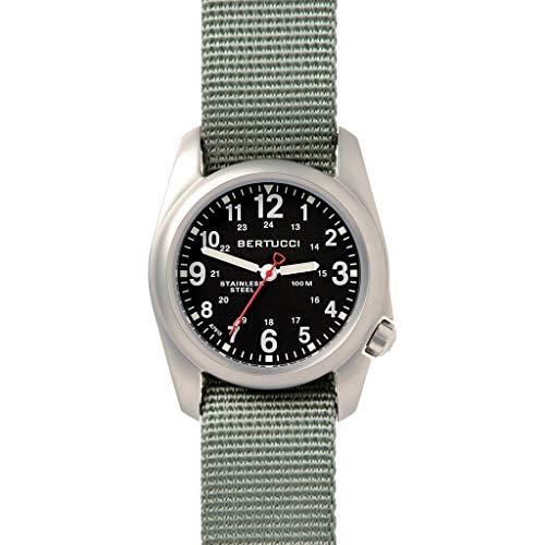 ベルトゥッチ 逆輸入 海外モデル 海外限定 アメリカ直輸入 【送料無料】Bertucci A-2S Field 22mm Quartz Movement Watch, Black/Defender Drabベルトゥッチ 逆輸入 海外モデル 海外限定 アメリカ直輸入